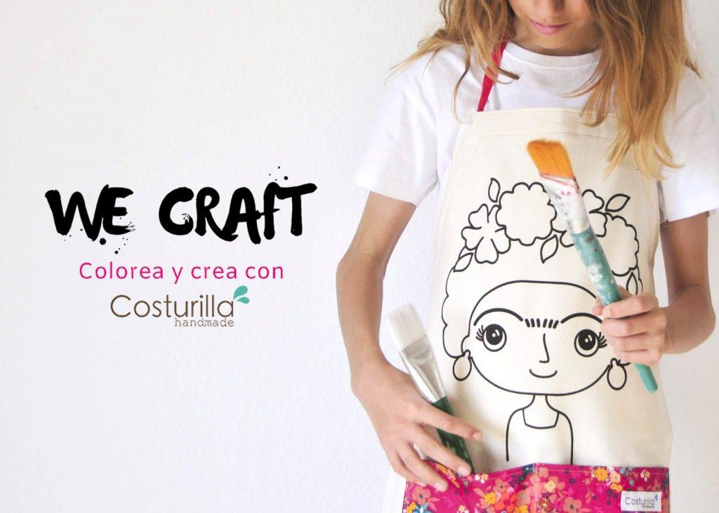 Delantal para pintar Frida Kahlo