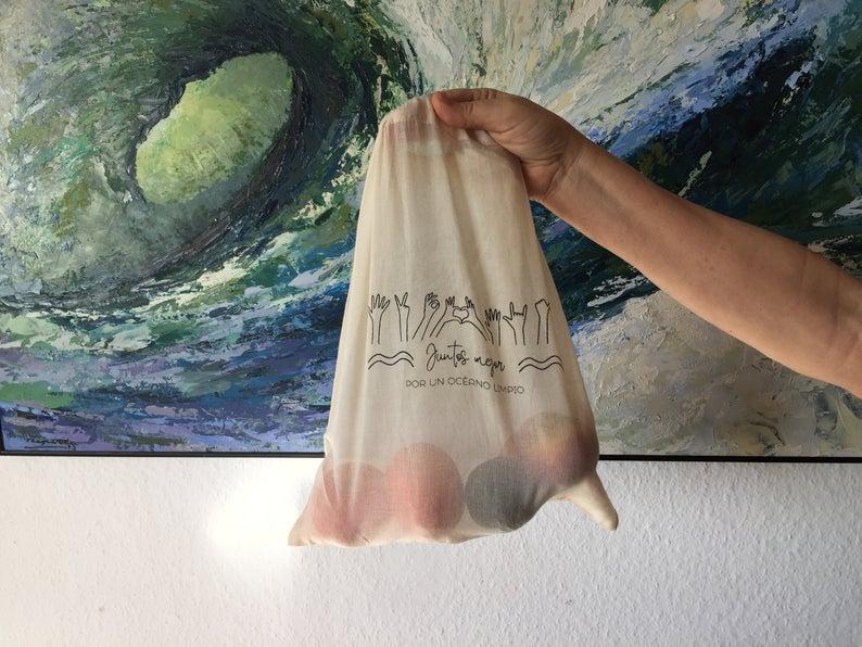 bolsa reutilizable de tela