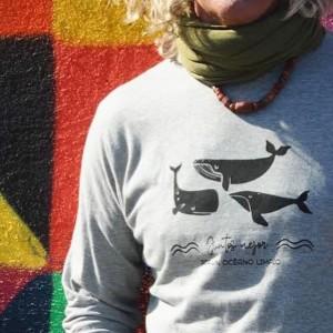 camiseta gris océano limpio