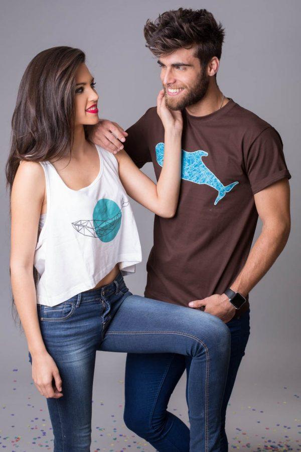 camiseta ballena azul