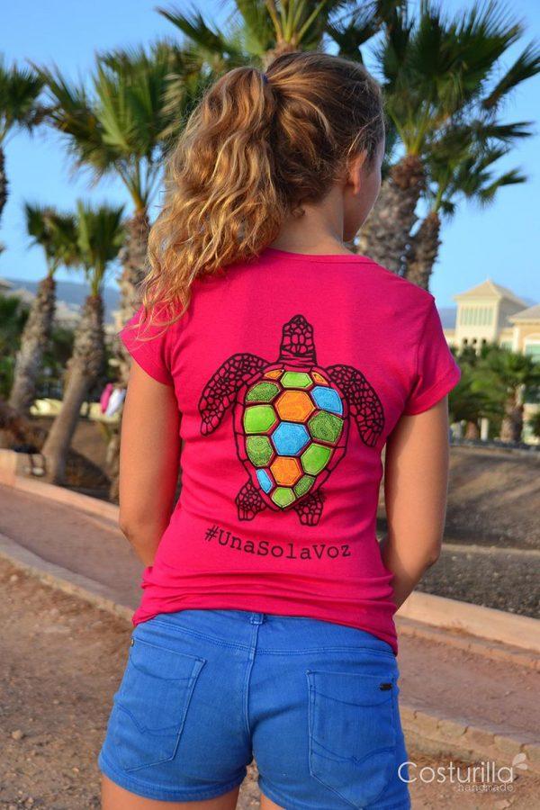camisa tortuga rosada