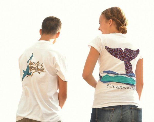 camiseta blanca hombre ballena