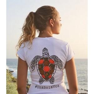 Camiseta de mujer personalizable, tortuga marina