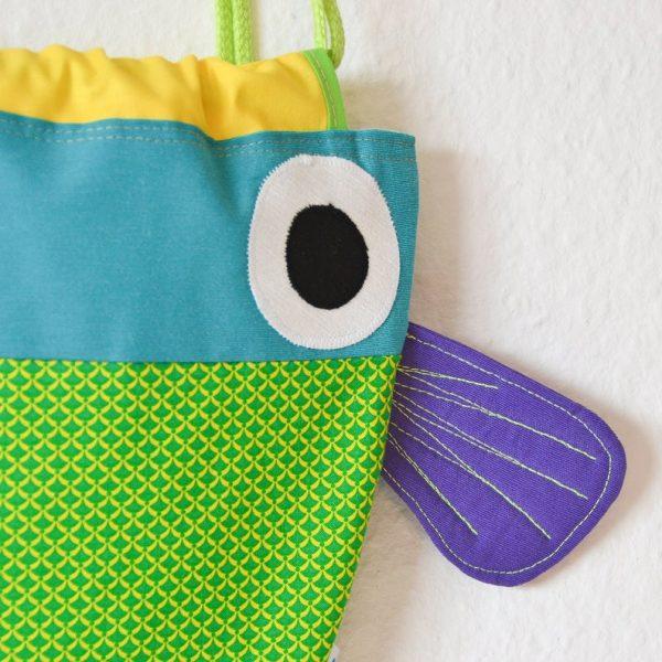 mochila para niños pez