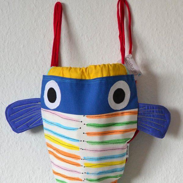 bolso niño azul pez