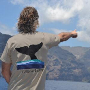 Camiseta de hombre, cola de ballena