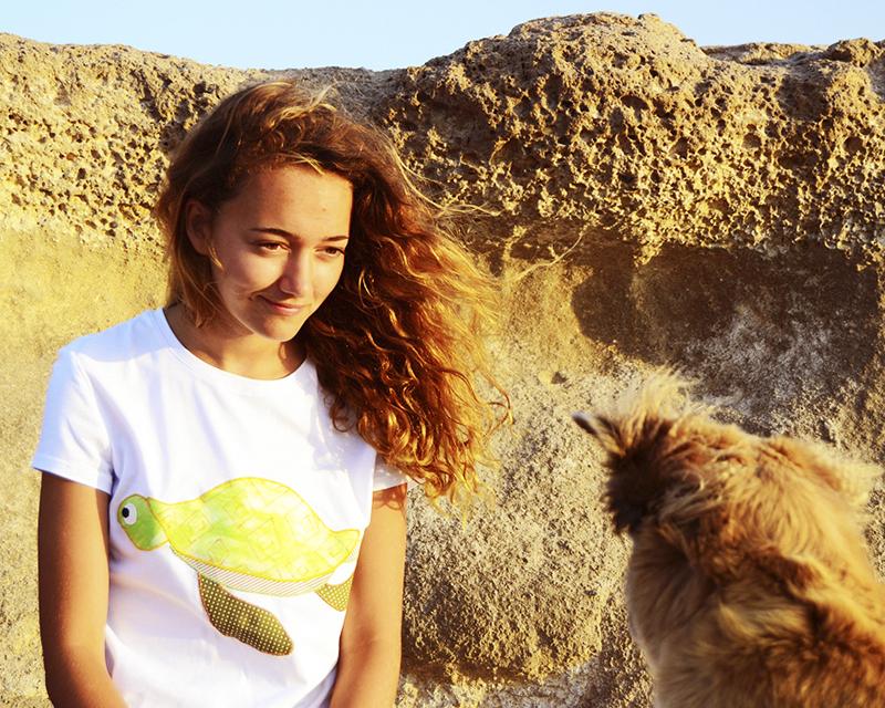 camiseta Costurilla, tortuga marina