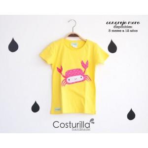 Camiseta amarilla de cangrejo