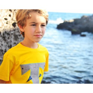 Camiseta infantil tiburón martillo