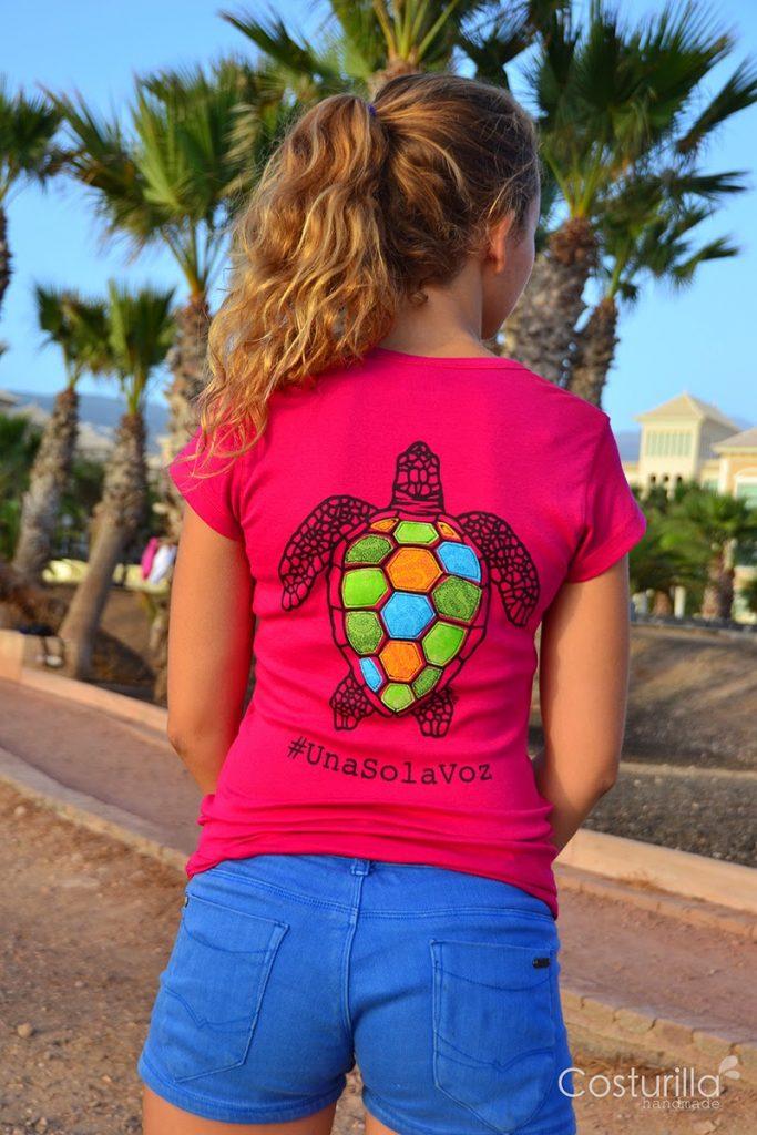 Camiseta de tortuga caretta caretta