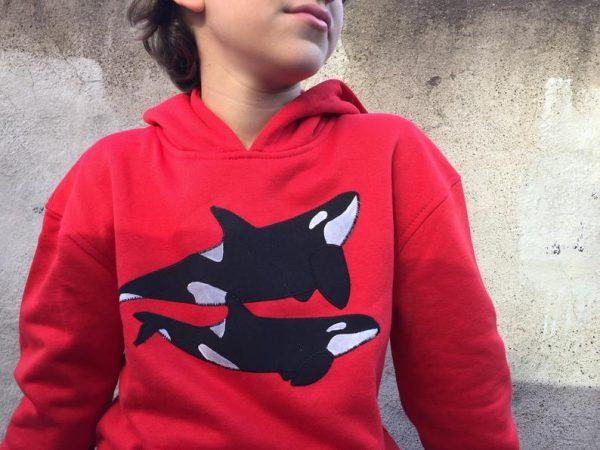 sudadera orca roja