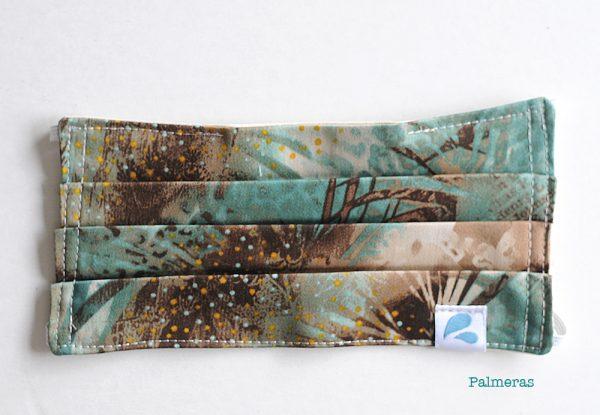 mascarilla estampado africano palmeras