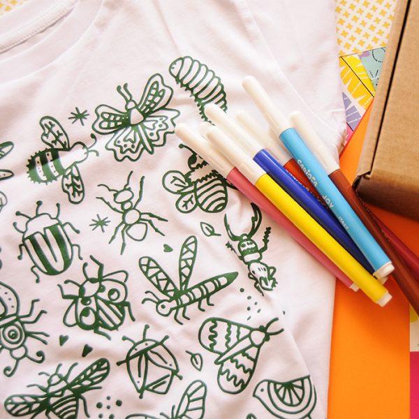 Insectos polinizadores para pintar