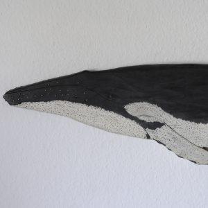 decoracion marinera, ballena hecha a mano