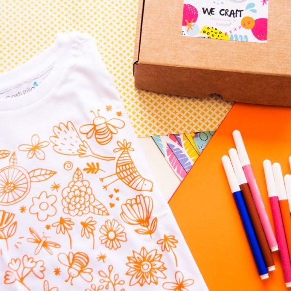 juego creativo camiseta para pintar