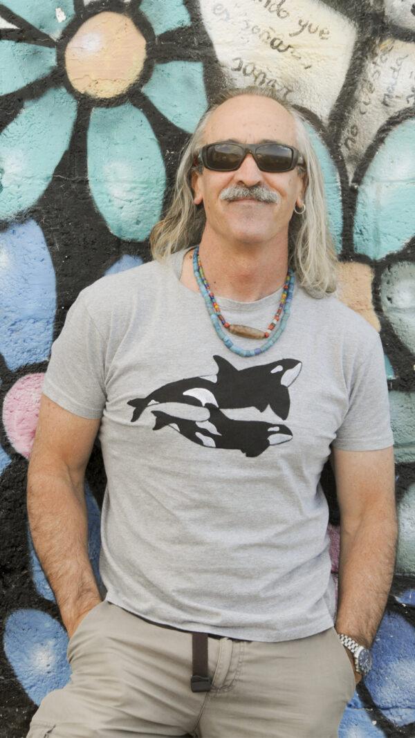 Camiseta para hombres de orcas