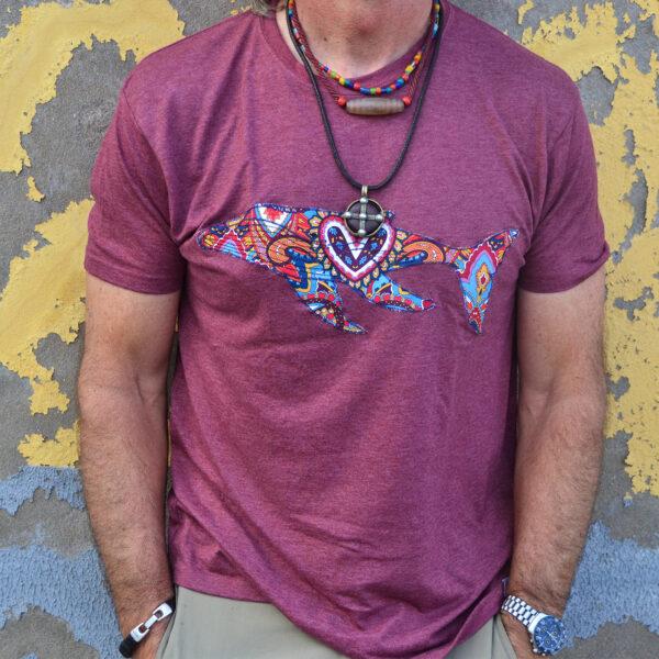 Camiseta de ballenas hecho en canarias